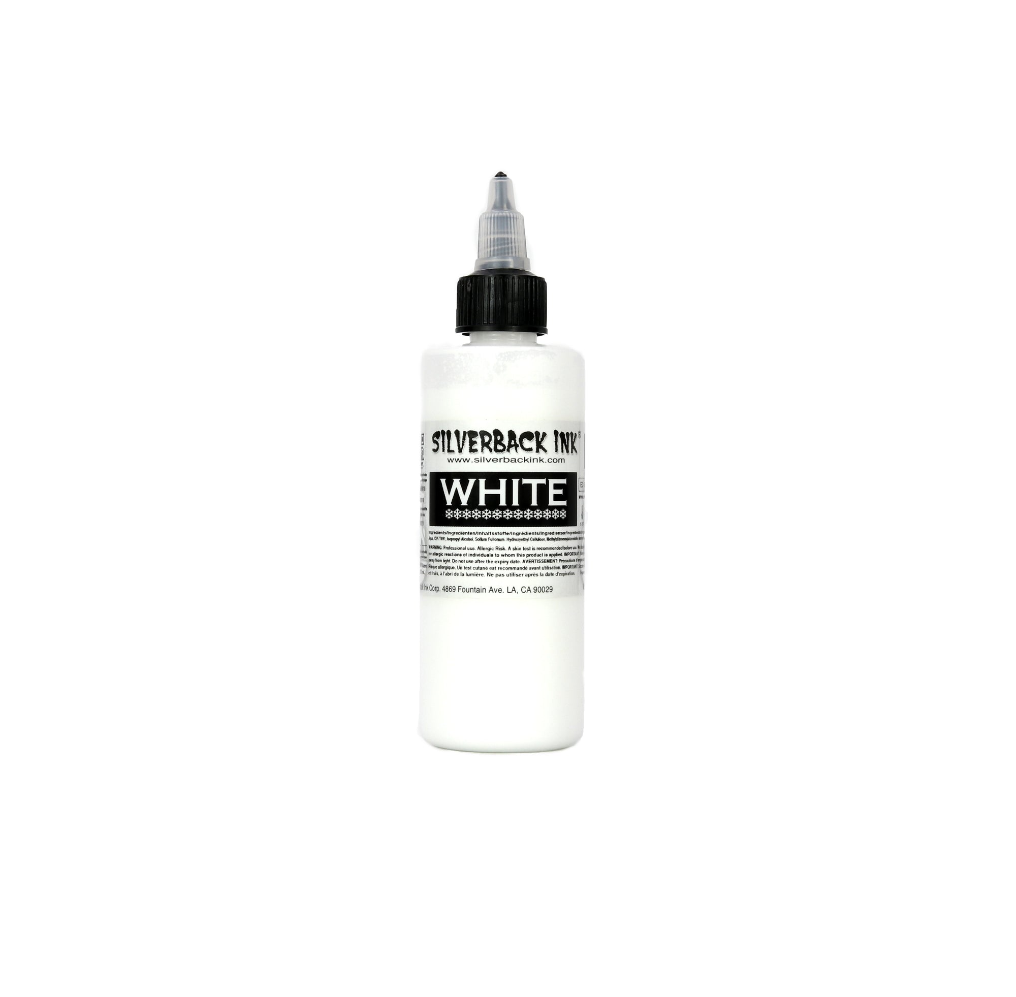 Silverback Ink White 4oz Bottle