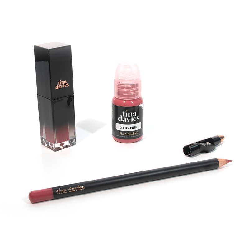 Tina Davies Lip Trio — Perma Blend — Dusty Pink