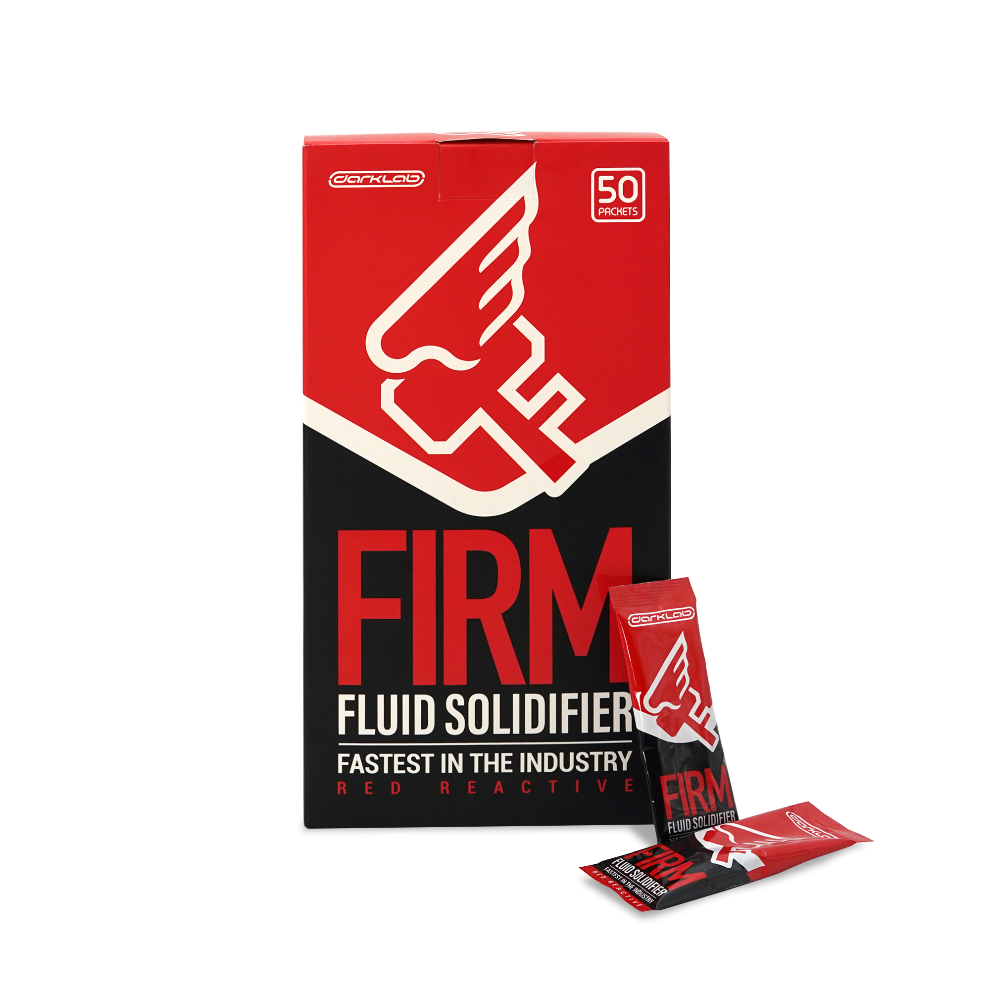 FIRM FLUID SOLIDIFIER 50 PACK BOX (RED)
