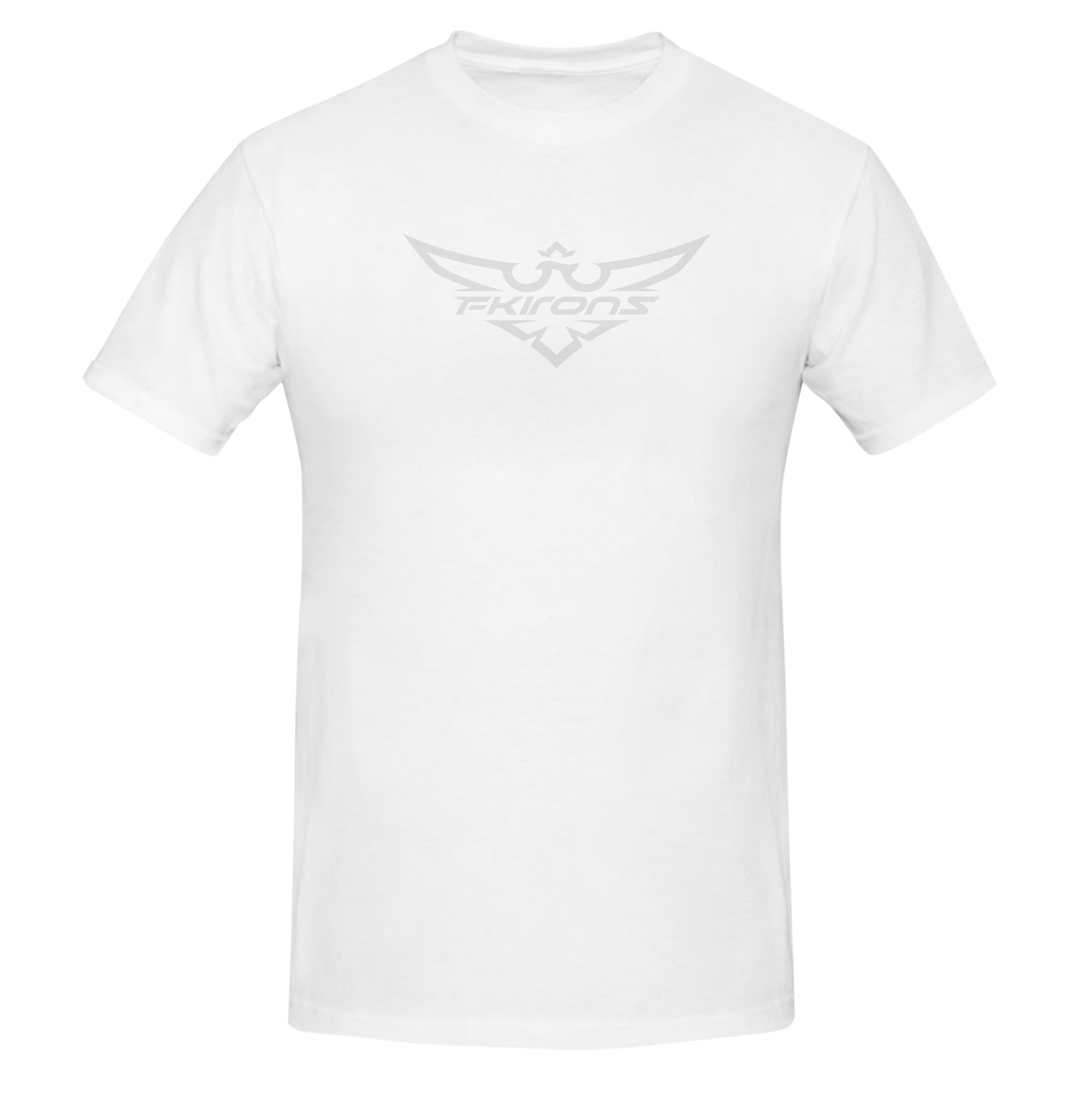 WHITE AND GREY FK IRONS LOGO T SHIRT