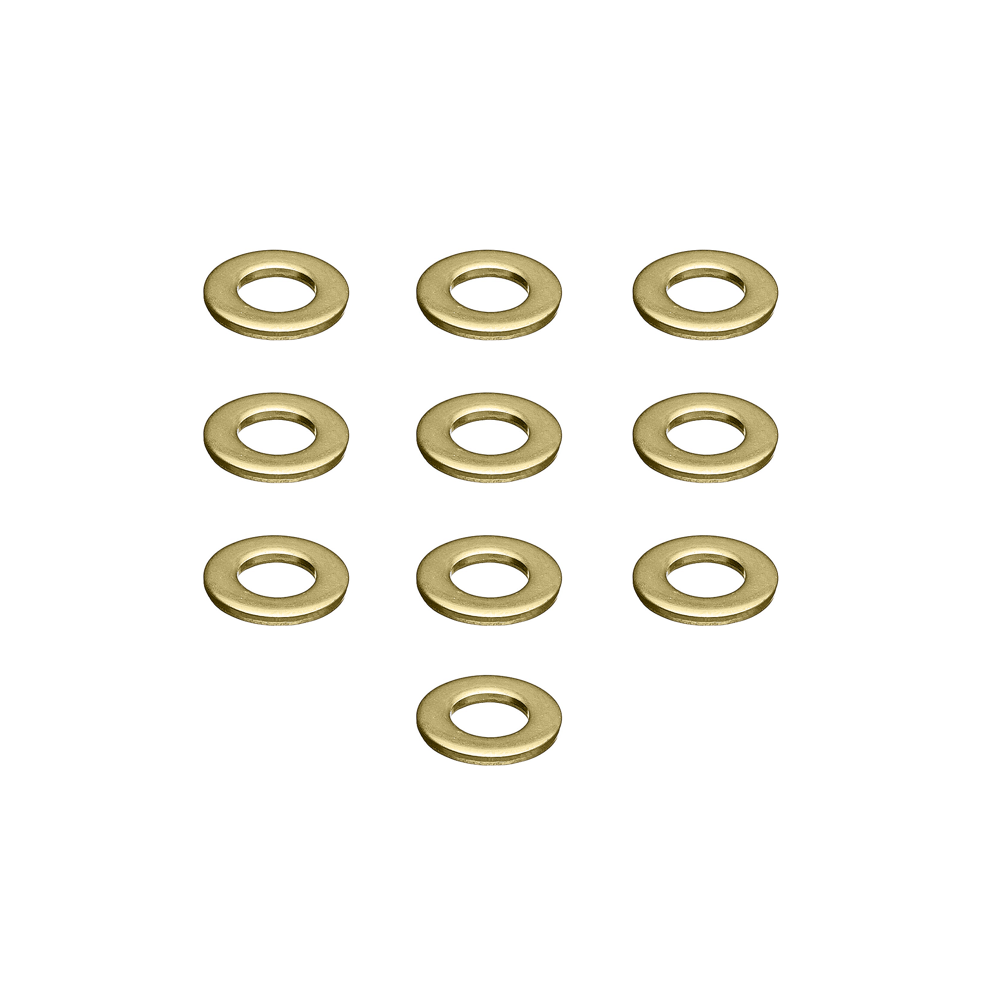 #10 Brass Washers - 10 Pack