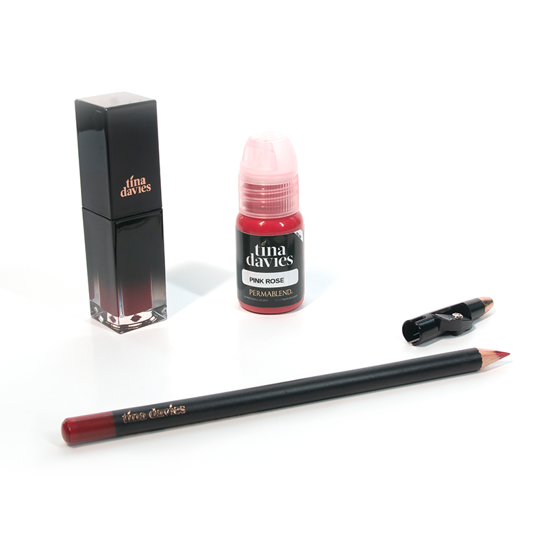 Tina Davies Lip Trio — Perma Blend — Pink Rose