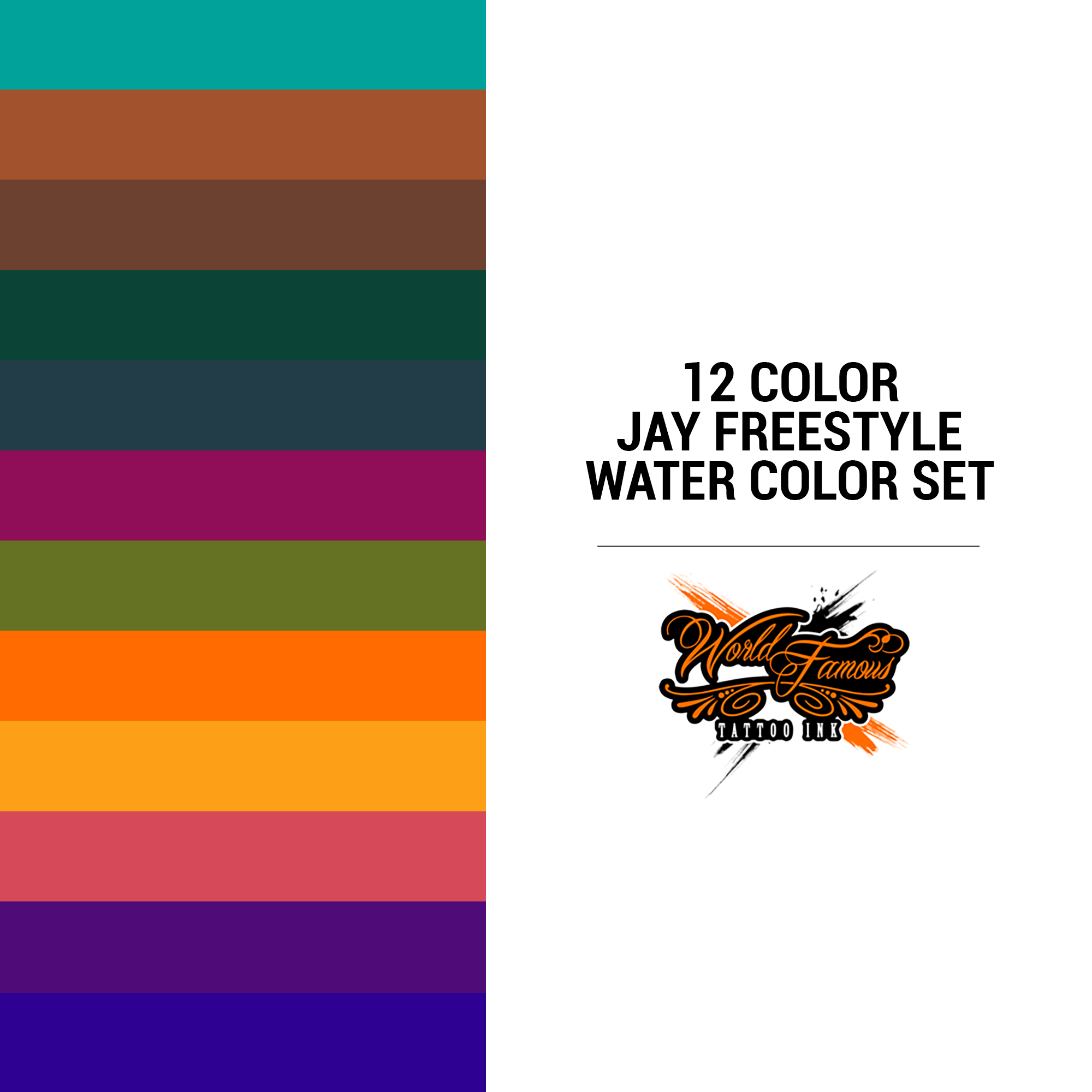 WF Jay Freestyle Water Color Set