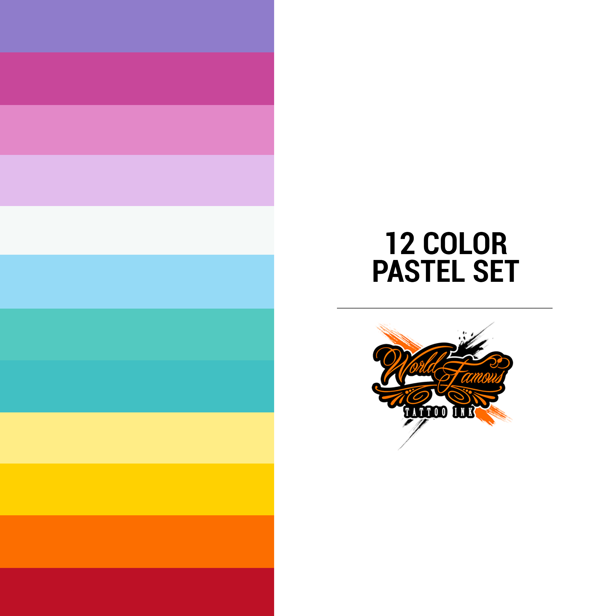 WF 12 Color Pastel Set 1 oz