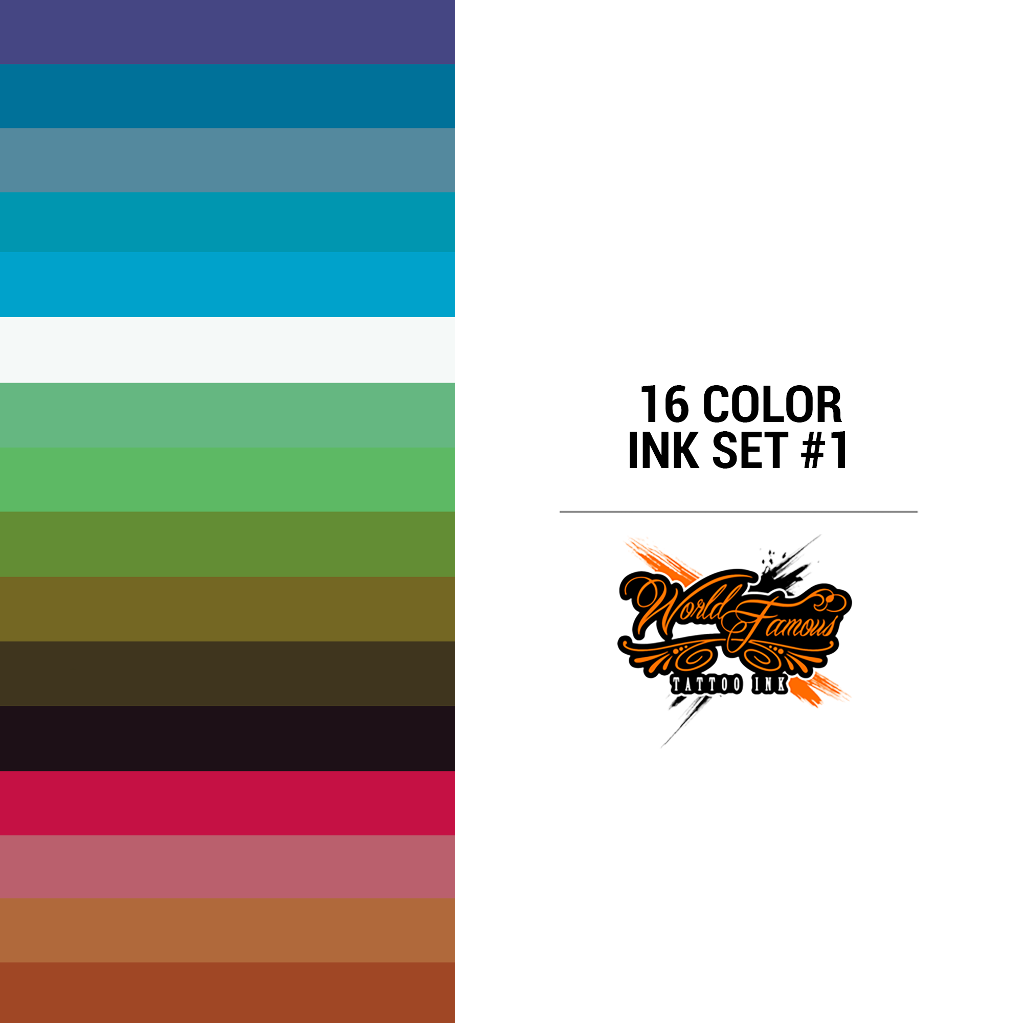 WF 16 Color Ink Set #1