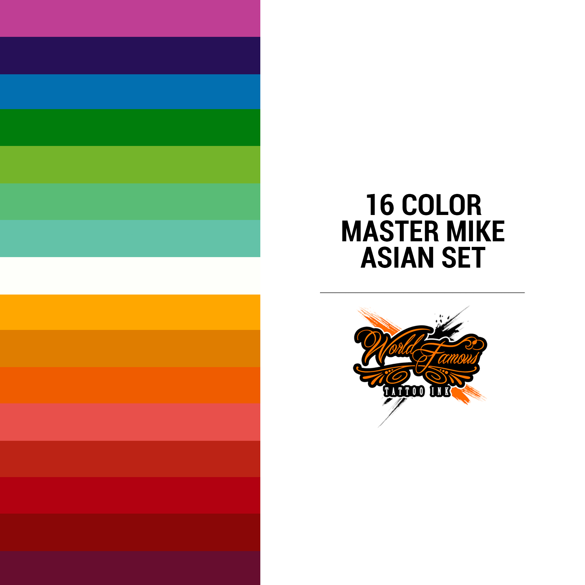 WF 16 Color Master Mike Asian Set