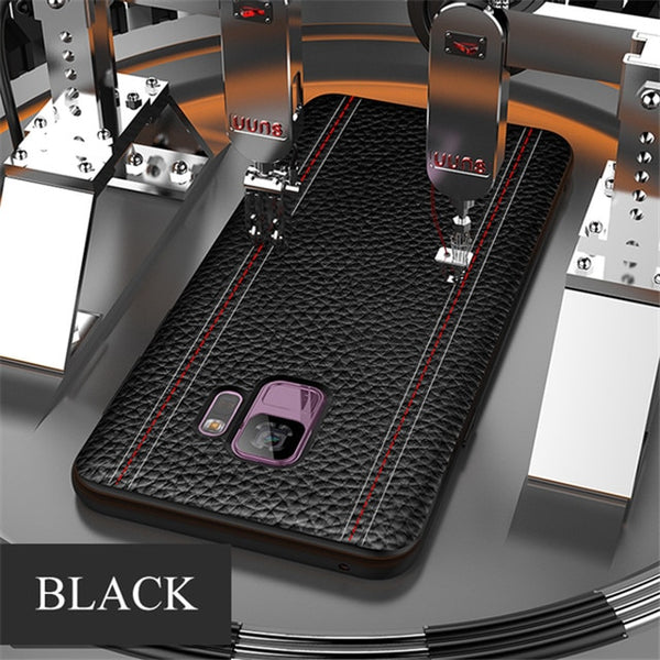 sale retailer 681bb 7261f Luxury Magnetic Ultra-Thin Leather Phone Case For Samsung S8 S9/plus Note 8  9