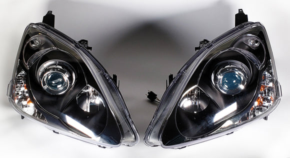 Projector Headlights w/ HID Low Beam for 2002-2005 Honda Civic Si (EP3)