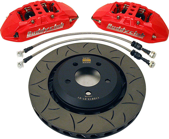 Buddy Club Racing Spec Brake Kit DC5 02-06 4pot 1pc/330mm Red Front