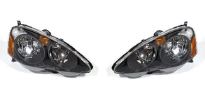 02-04 ACURA RSX DC5 HEADLIGHTS BLACK (TYPE-S & BASE)