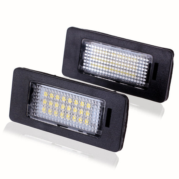2 PCS LED License Plate Light No Error Lamp SMD3528 for BMW E82/E88/E90/E92/E93/E39/E60/E70