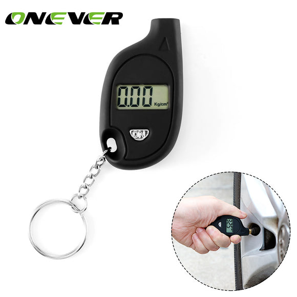 Onever  Mini Digital Tire Pressure Gauge 150 PSI Tester Toolfor Truck Auto Vehicle Car PSI/BAR/KPa/KG/cm2