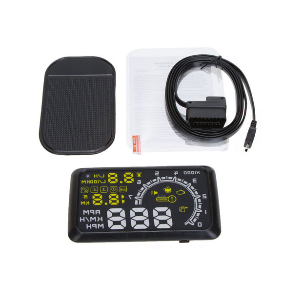 KKmoon 5.5 Inch Car HUD Head Up Display KM/h & MPH Speeding Warning OBD2 Interface Windshield Project System