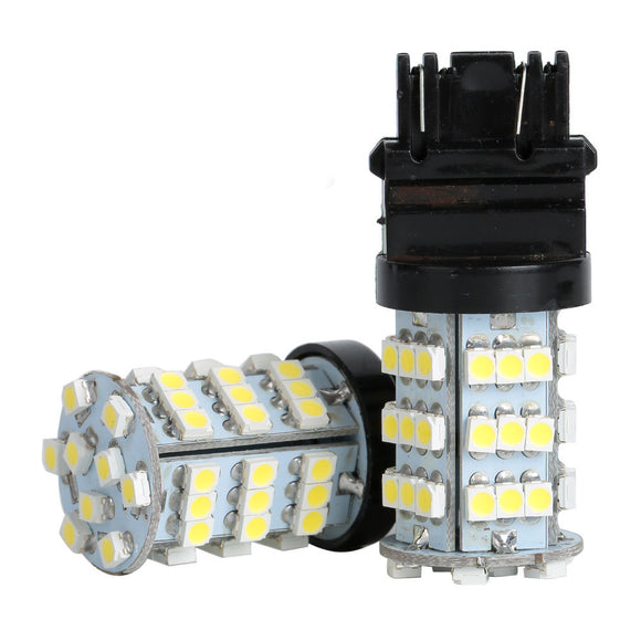 2x 3156 3157 6000K Xenon White Backup Reverse Tail 54SMD LED Light Bulb