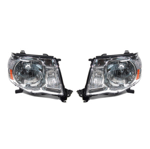 Toyota Tacoma Replacement Headlights R/L Chrome Housing 2005-2011