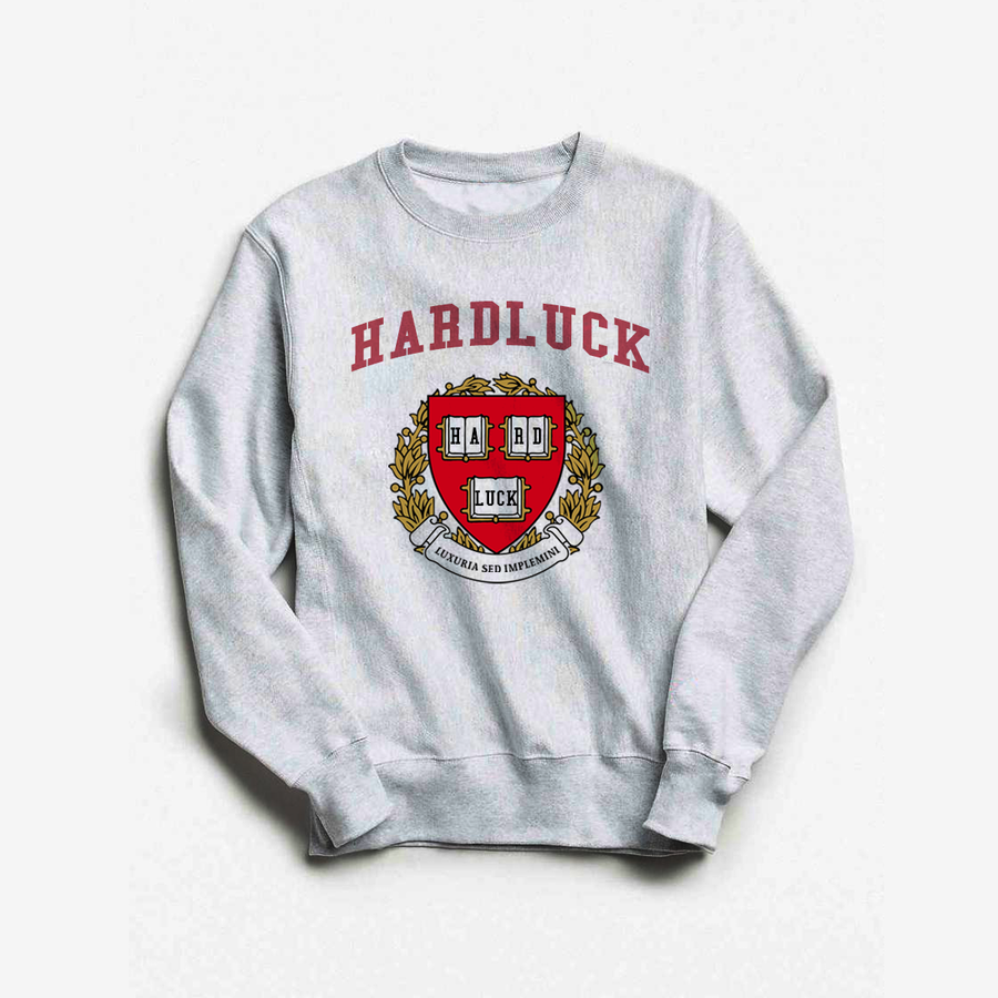 Hardluck Heather Grey Heritage Crewneck
