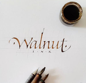 Calligraphy penned with walnut ink