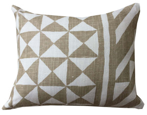 30 x 40cm Cushion Schumacher Linen  - Geometric Caramel