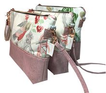 Skinny Cross Body Pouch in Pink Cork