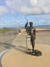 Original view of the Bronze Crayfisherman at Port MacDonnell Foreshore