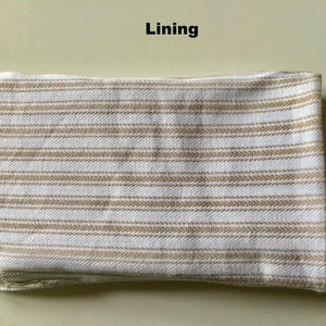 Glasses Pouch - Beige & White Stripe