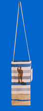 The Crayfisherman  Tall Tote - Cobalt blue pure linen