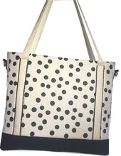 Natural Linen Polka Dots Tudor Bag