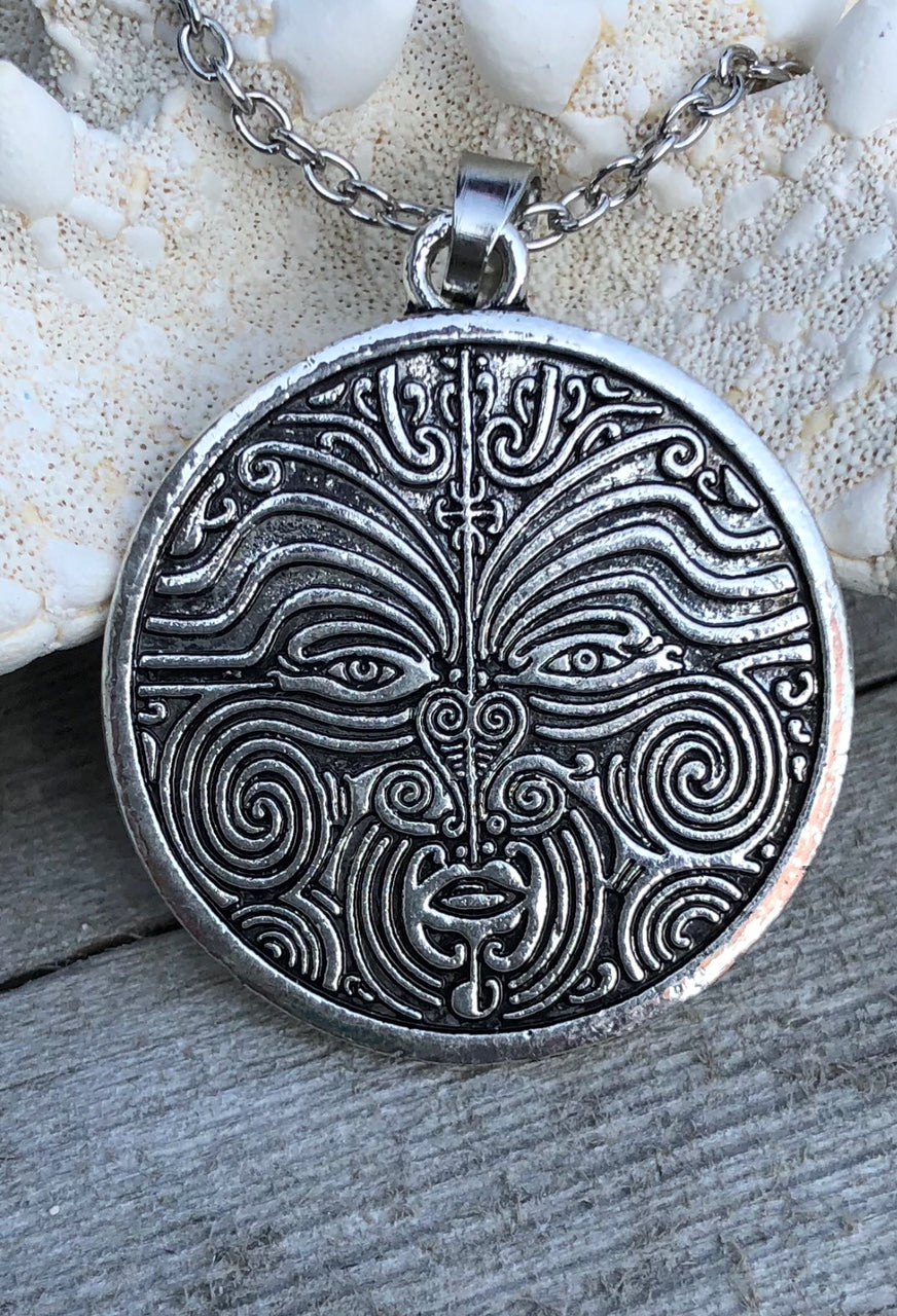 Men's Tribal Face Necklace