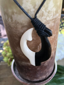 Men's Tribal Ox Bone Hawaiian Hook Necklace