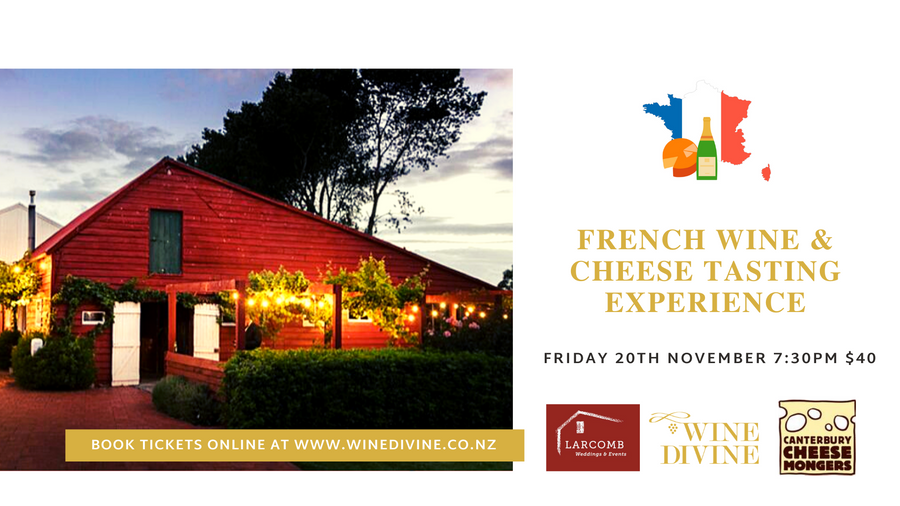 French Cheese & Wine Tasting Experience - 20th November, Larcomb Vineyard