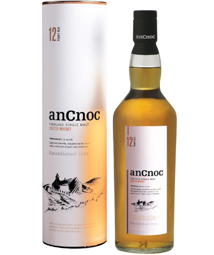 anCnoc  12 YO Highland Single Malt Scotch Whisky