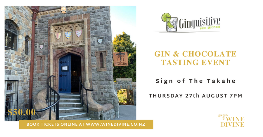 Gin & Chocolate Tasting at Sign of the Takahe