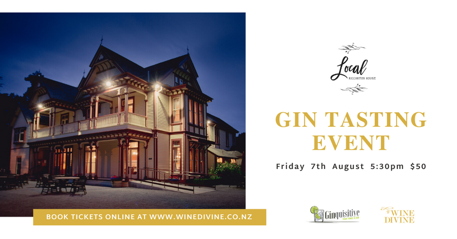 Gin Tasting at Riccarton House 7th August