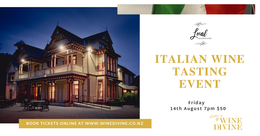 Italian wine tasting at Riccarton House