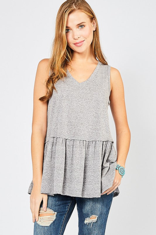 Melanie Top - Charcoal
