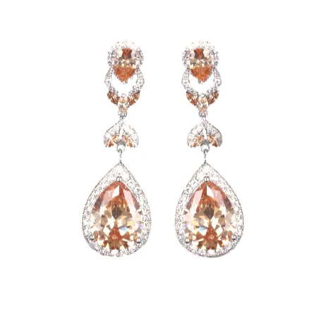 Luxe Champagne Chandelier Earrings