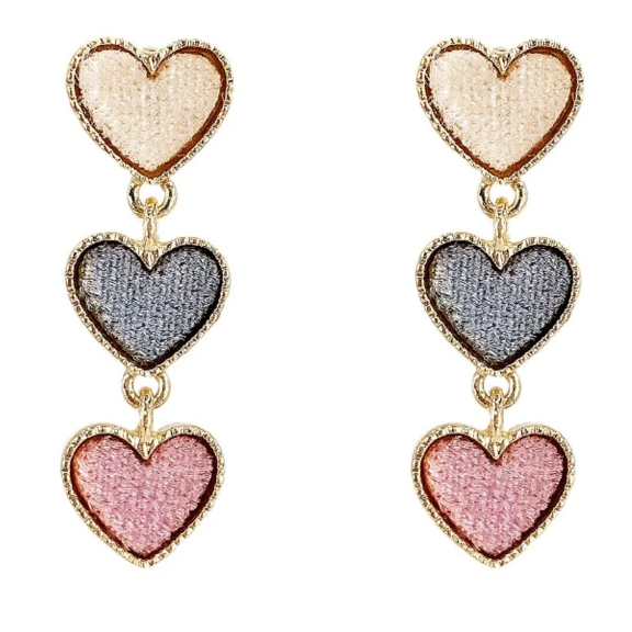 Swarovski Crystal Heart Jewelry Set