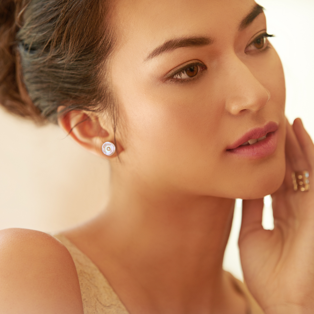 Bare Beauty Pearl Stud Earrings