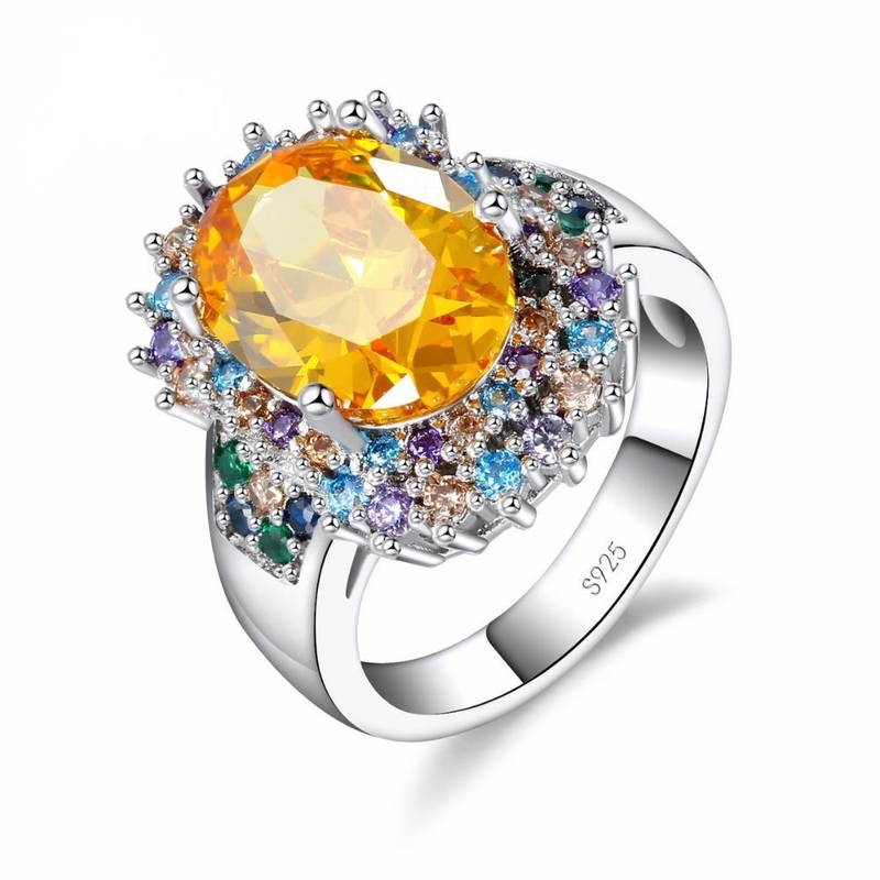 Multicolored Spring Flower Ring