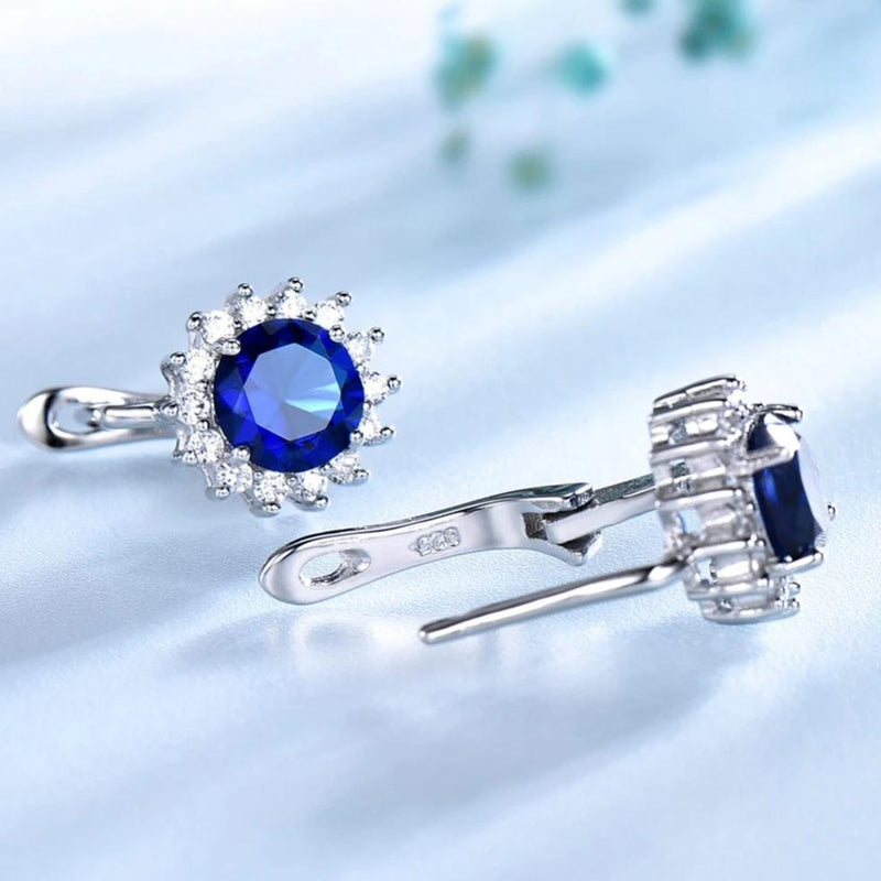 Luxe Blue Sapphire Stud Earrings
