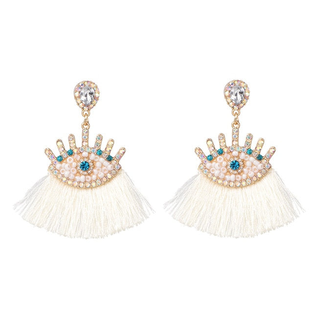 Magical Eyes Tassel  Drop Earrings