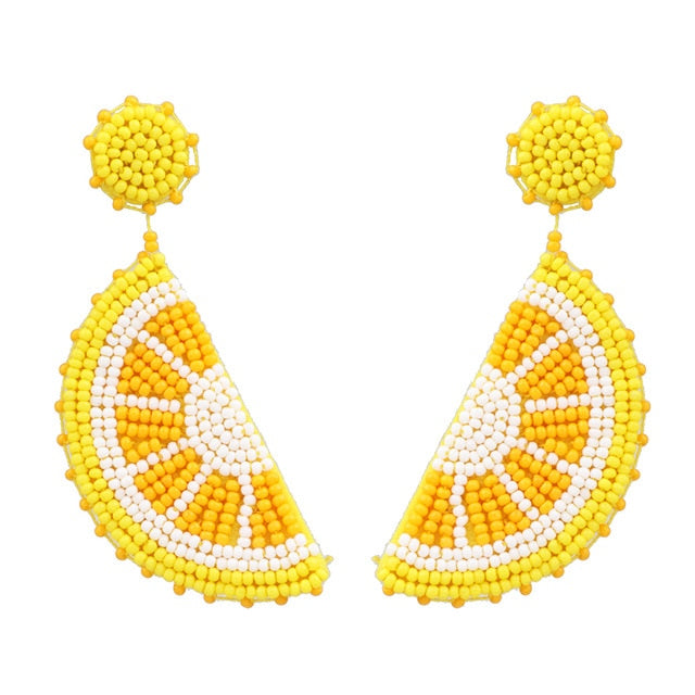 Queen Nefertiti Crystal Semicircular Drop Earrings