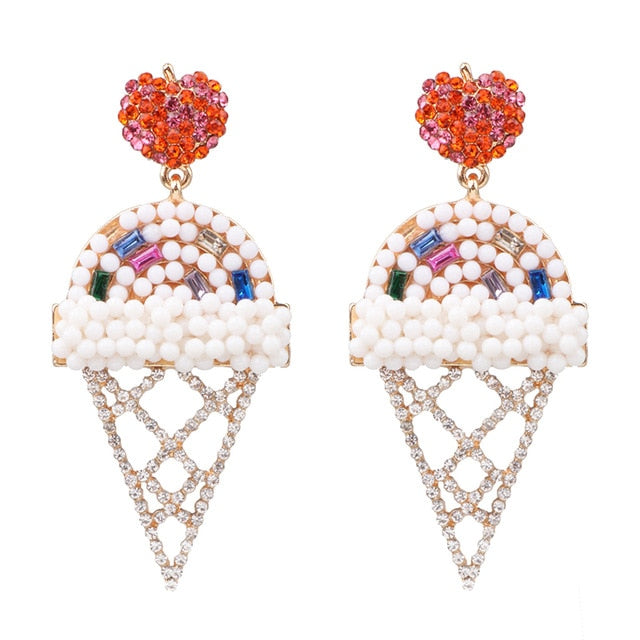 Ice Cream Social Drop Stud Earrings
