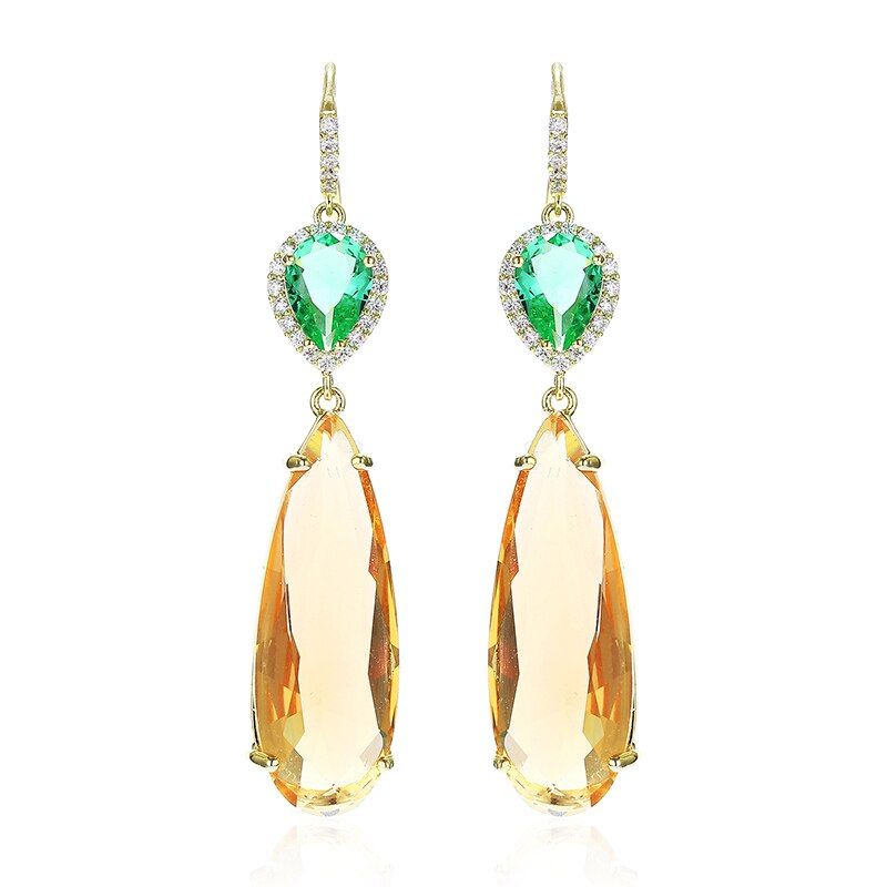 Mystère D'amour Golden Chandelier Drop Earrings