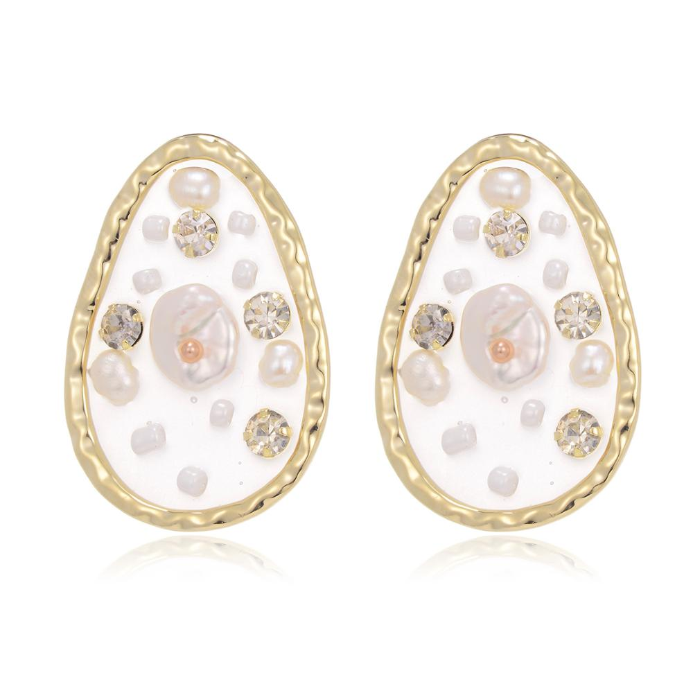 Translucent Pear Shaped Pearl Stud Earrings