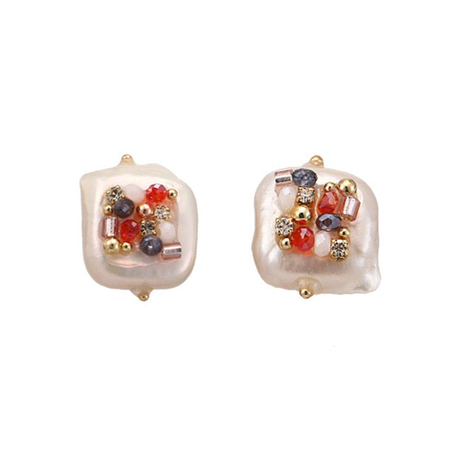 Duchess Pearl Stud Earrings