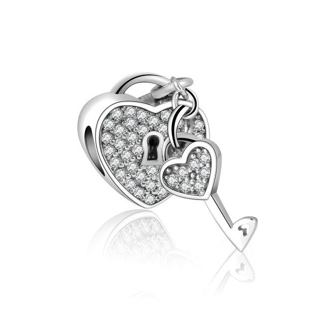 Key to Your Love Heart Charm