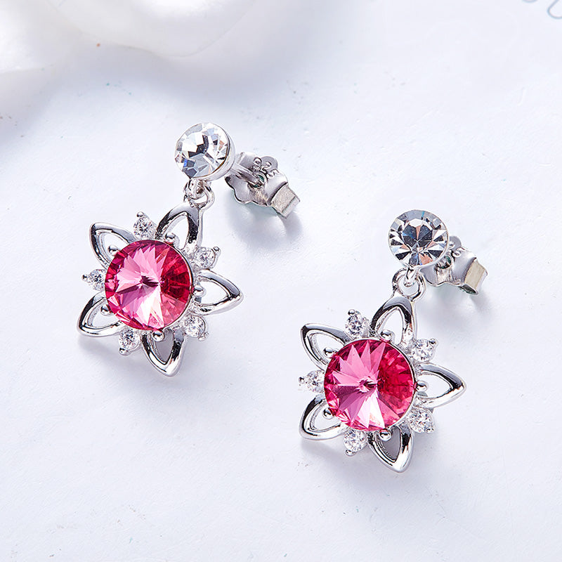 Swarovski Crystal Flower Stud Earrings