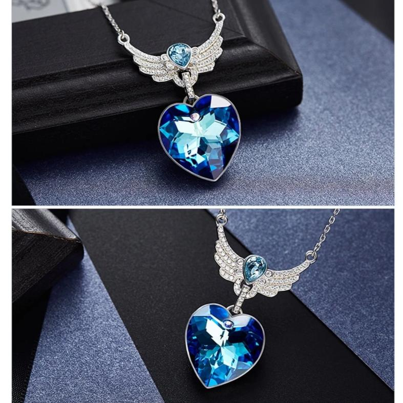 Swarovski Crystal Heart of Guardian Necklace