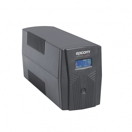 UPS DE 850VA/510W EPCOM POWER LINE CON DISPLAY LCD Y REGULADOR DE VOLTAJE AVR-Ups/No Break-EPCOM POWER LINE-EPU850LCD-Bsai Seguridad & Controles